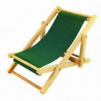 China Folding Wooden Beach Chair for Children, with Solid Wooden Frame and Durable Canvas Seat wholesale
