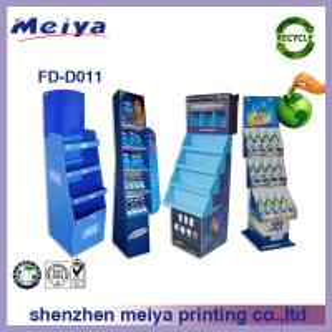 China 350g CCNB + K3 Corrugated cardboard Pop Display stand/rack CMYK / Pantone Colors Glossy Varnishing For WM supermarket wholesale