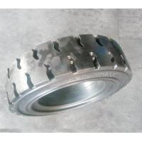 Forklift Solid Tyre, 6.00-9 . Three Layers design with steel ring reinforced