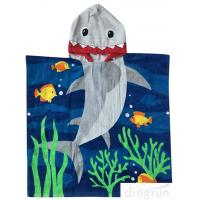 Buy cheap 100% cotton Cotton Beach Towel Kids Hooded Poncho Bathrobe Towel with reactive printing from wholesalers