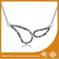 China Plating Embossing Silver Glass Chain Necklace For Promotion Gift wholesale