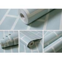 China Non Woven Blue Brick Self Adhesive Textured Wallpaper Waterproof with OEM Service wholesale