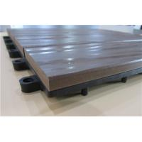 Quality Heat - Resistant Wood Plastic Composite Decking / Cedar Decking Grey for sale