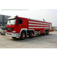 China Multi Purpose HOWO 8x4 Fire Pumper Truck With Water Tank 24 Ton For Fire Fighting on sale