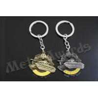 China Bespoke Designed 3D Tank Metal Key Chains Promotion Gifts Items Eco Friendly wholesale