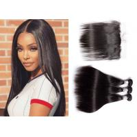 China Comfortable Malaysian Hair With Frontal / Unprocessed Straight Bundles With Frontal wholesale