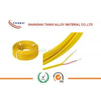 China 200 Degrees Teflon Insulated Thermocouple Cable Type K 2*0.2mm 500m Roll wholesale