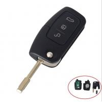 China 3 Buttons 433MHz/315MHz Flip Key Fob Transponder Chip ID60 For Ford FOCUS MONDEO TRINSIT With logo wholesale