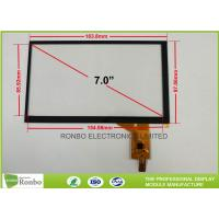 "China Industrial PCT / PCAP Multi Touch Screen Panel Thin Film to Glass Structure 7.0"" IIC Interface wholesale"