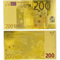China Paper Money Colorful 200 Euro Gold Banknotes Collection wholesale
