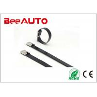 Quality Coated Stainless Steel Cable Tie High Tensile Strength High Resistance To Acetic for sale