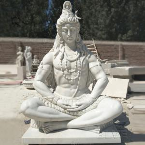 China Marble Lord Shiva Statue Buddha Sculpture Garden Hand carved Life Size India God wholesale