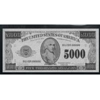 Quality $5000 Silver American Banknote for sale