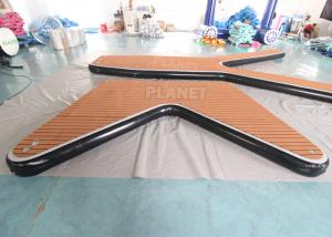 China Drop Stitch V Shape Boat Dock Inflatable Sea Water Pontoon Boat Inflatable Platform Floating Pontoon Jet Ski Dock wholesale