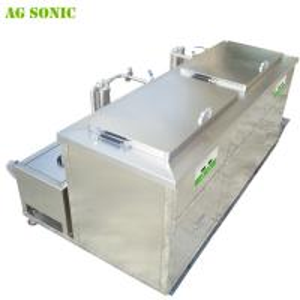 China Double Tanks Ultrasonic Engine Cleaner , Waterproof Engine Block Washing Machine on sale