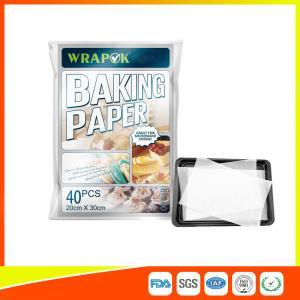 China Waterproof Baking Paper Sheets / Non Toxic Parchment Paper Heat Resistant 20 * 30cm wholesale