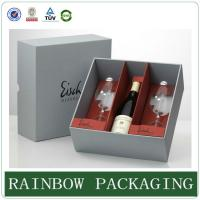 Quality Luxury wine glass paper box packaging ,  paperboard box , factory custom wine box for sale