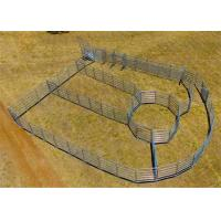 Buy cheap 40x40 1.8M x 2.1M Heavy Duty Portable Cow Fence Panels 6 Oval Bars 30*60mm from wholesalers