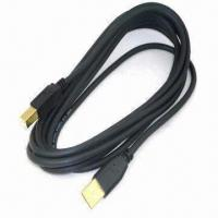 China A/M to B/M USB 2.0 Cable with 0.5A Current Rating and Nickel Plating wholesale