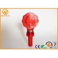China D Battery Powered Traffic Warning Lights , led barricade light with handle flash frequency wholesale
