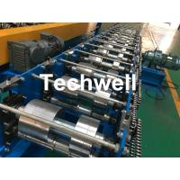 China K Gutter, Round Gutter Cold Roll Forming Machine With Hydraulic Cutting PLC Control wholesale