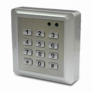 China Access Control Keypad, Waterproof, 2,000 cards capacity wholesale