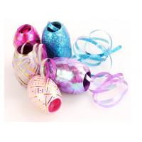 China Colorful And Fashionable Indoor Decoration Christmas Ribbon Egg with PP gold line wholesale