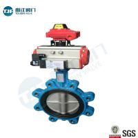 China Cast Iron Lug Type Wafer Butterfly Valve  with Penumactic Actuator for Water ,Sewage& Pulp on sale