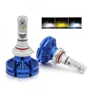 China Auto Lighting System H4 Led Three Color 9005 9006 Headlight Bulbs  H11 X3 Car H7 H4 Led Headlight bulb on sale