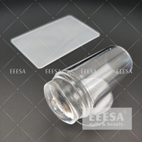 China 2.8Cm Silicone Jelly Head Clear Nail Art Stamper And Scraper wholesale