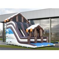 China Full Print Commercial Inflatable Slide, Attractive Inflatable Playground Slide With House Design wholesale
