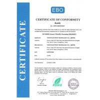 Guangzhou Yison Electron Technology Co., Limited Certifications