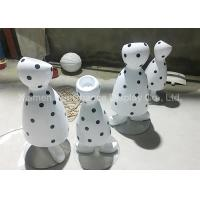 China Black Dot Patterns Flower Pot Statues With Polished Surface Treatment wholesale