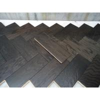 Quality White Oak Parquet Herringbone (stained wenge color) for sale