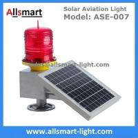 China 30LED Red Solar Obstruction Light Aviation Warning Lamp with Solar Panel For Tower Crane High Building wholesale