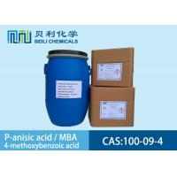 China White crystalline powder 	P-anisic Acid 100-09-4 99.0% purity with stock wholesale