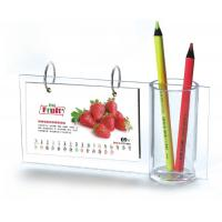 China Desktop A5 Acrylic Calendar Pen Holder Frames L Type For Home wholesale