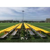 China Outdoor Portable Aluminum Sports Benches , Temporary Spectator Stands With HDPE Seat on sale