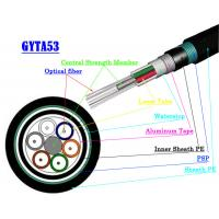 Buy cheap Multimode Fiber Optic Armoured Cable GYTA53 GYTS53 Direct Buried Fiber Optic from wholesalers