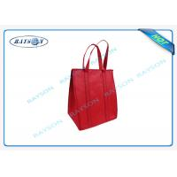 eco promotional long handle pp non woven cooler bag with zipper