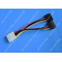 China IDE Flat Cable Harness Assembly 4 Pin to 2 x 15 Pin SATA To Serial ATA SATA Connector wholesale