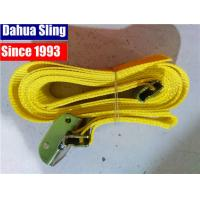 "China Yellow 2""X20' E Track Ratchet Tie Down Straps With Cam Buckle W- 4' Short End Assembled wholesale"