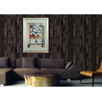 China Retro Wood 3D Home Wallpaper Household 0.53*10m / roll , Non - pasted wholesale