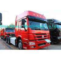 China SINOTRUK Howo 6X4 Prime Mover Truck 371HP , Red Unloading Trucks , Color Can Be Selected wholesale