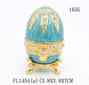 Russian faberge Easter egg trinket box decorative  faberge Easter egg jewelry box metal gift
