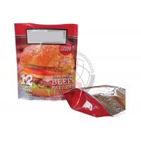 China Custom Hamburger Stand Up Zipper Pouch 3 Side Seal Water Proof ISO14000 Certification wholesale