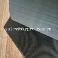 China Black High Tensile Rubber Soling Sheets W Wave Pattern Natural Gum Rubber Sheet For Shoe Sole Material wholesale