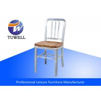 China Durable Aluminum Navy Chairs With Wooden Seat , EMECO Navy Chair wholesale