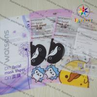 China DIY Facial Mask Sheet Of Cosmetic Plastic Bag With Ziplock wholesale