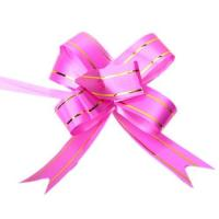 China 10Pcs 5cm 2in Butterfly Style Golden Edge Pull Ribbon Bows Dark Pink for Gift Packing wholesale